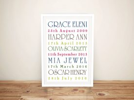 Simple Elegance Personalised Word Art Brisbane Australia