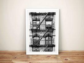 Buy New York Building Facade Framed Print