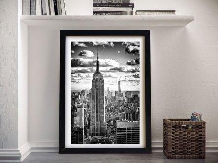 Buy Manhattan Cityscape Framed Canvas Wall Art