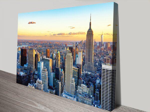 New York Sunset by Hugonnard Cheap Art AU