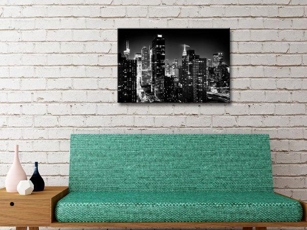 Buy Manhattan Black & White Wall Art Great Gifts AU