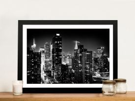 Buy a Black and White Print of Manhattan Skyline