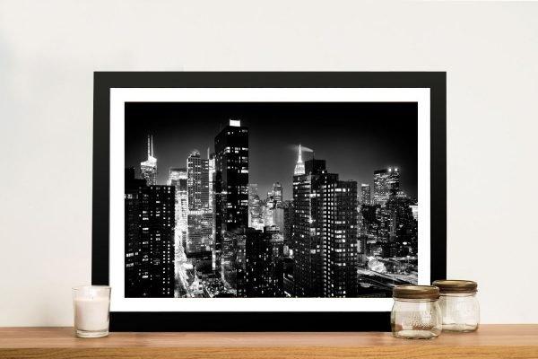 Buy a Black and White Print of Manhattan Skyline
