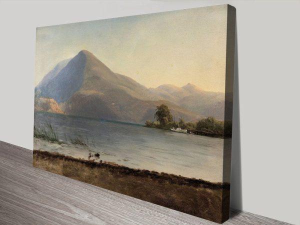 Buy Bierstadt On The Hudson Cheap Wall Art