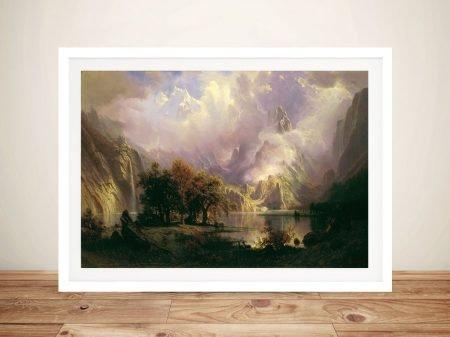 Buy A Rocky Mountain Landscape Framed Print