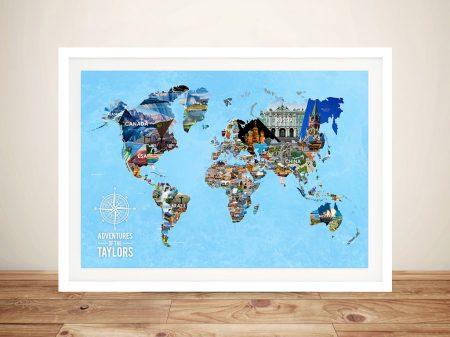 Personalised Bucketlist World Map Pinboard Art