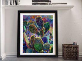 Cactus Nocturnus Framed Wall Art Australia