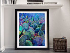 Cactus Refractus Iris Scott Framed Wall Art