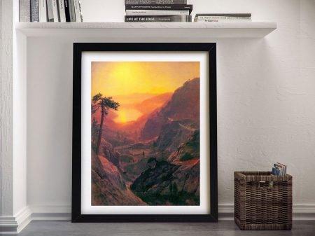 Buy Bierstadt's Donner Lake Canvas Wall Art