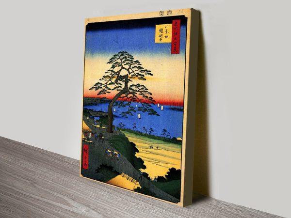Buy a Hiroshige Canvas Print Cheap Online