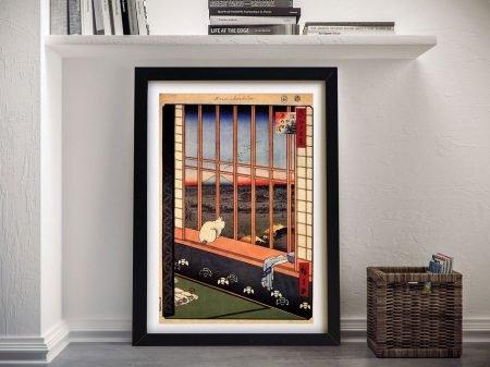 Buy Asakusa Ricefields Framed Art by Hiroshige