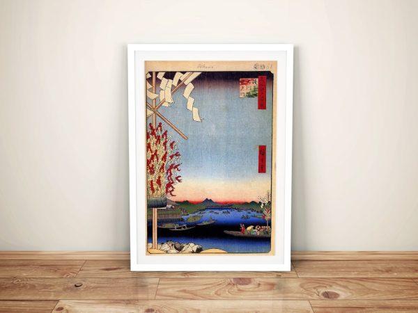 Buy a Framed Canvas Print of Asakusa River
