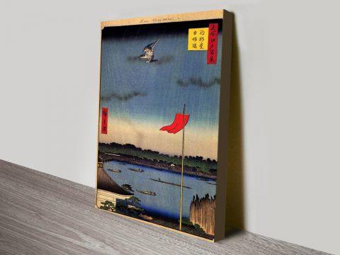 Buy Azuma Bridge Artwork by Hiroshige AU