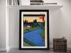 Buy Benkei Moat Framed Canvas Japanese Art