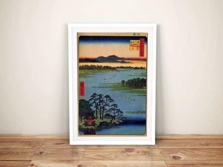 Buy a Framed Print of Hiroshige's Benten Shrine