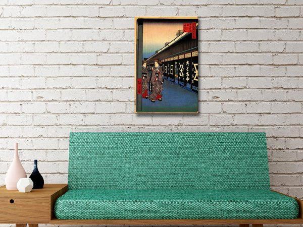 Buy Cotton Goods Lane Japanese Wall Art Online
