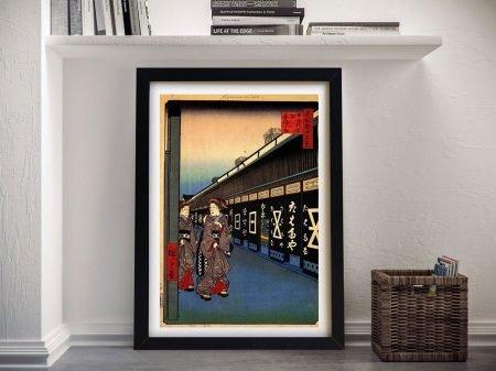 Buy Cotton Goods Lane Hiroshige Canvas Wall Art