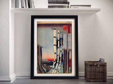 Buy Dyers Quarter a Framed Hiroshige Print