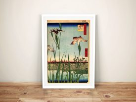 Buy a Print of Iris Garden Japanese Art by Hiroshige
