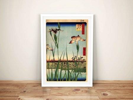 Buy a Print of Iris Garden Japanese Art by Hiroshige