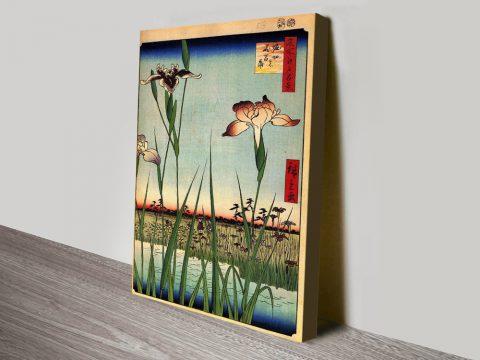 Buy Iris Garden Cheap Japanese Canvas Art AU