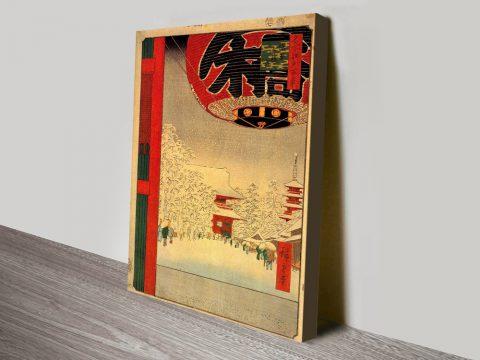 Buy Kinryuzan Temple Cheap Hiroshige Art AU