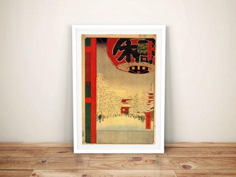Buy Kinryuzan Temple a Hiroshige Canvas Print