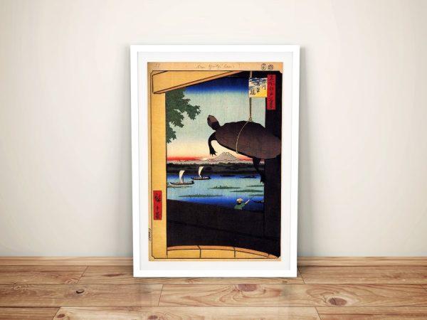 Buy Mannen Bridge Hiroshige Canvas Art