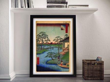 Buy a Hiroshige Canvas Print of Mokuboji Temple