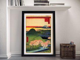 Buy New Fuji Canvas Wall Art by Hiroshige