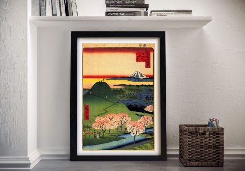 Buy New Fuji Canvas Wall Art by Hiroshige