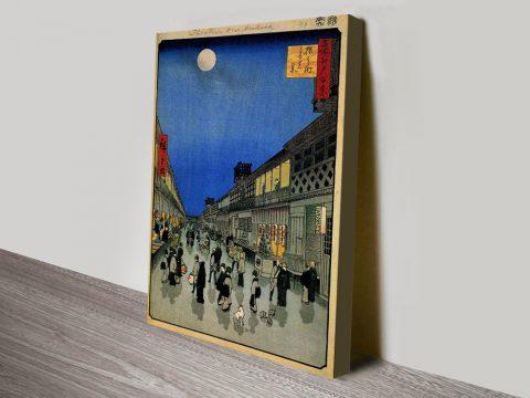 Buy Night View of Sarukawa Cheap Japanese Art