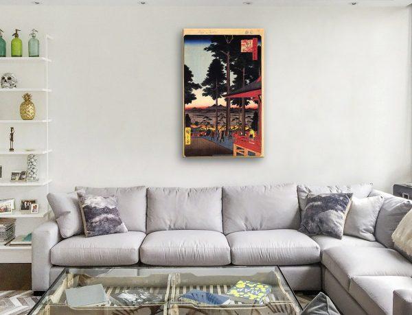 Buy Oji Inari Shrine Japanese Wall Art Cheap Online