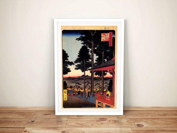 Buy a Hiroshige Print Featuring the Oji Inari Shrine