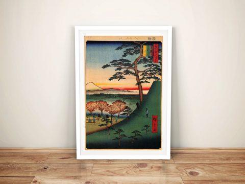 Buy a Framed Print of Original Fuji by Hiroshige