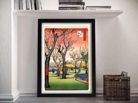 Buy Plum Garden Kamata Stretched Canvas Art