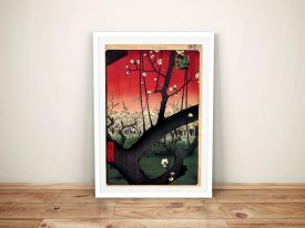 Buy a Canvas Print Plum Estate by Hiroshige