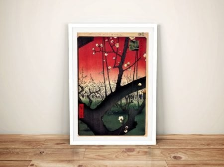 Buy a Canvas Print Plum Estate by Hiroshige