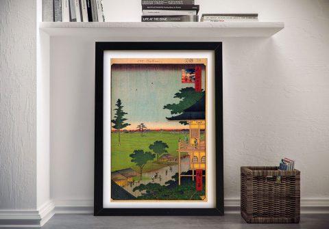 Buy a Hiroshige Canvas Print of Raken Temple