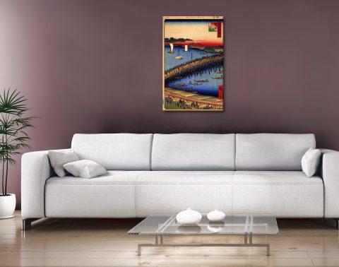 Buy Ryogoku Bridge Cheap Hiroshige Canvas Art