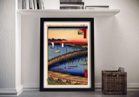 Buy Ryogoku Bridge a Hiroshige Canvas Print