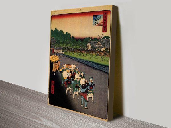 Buy Shiba Shinmei Shrine Hiroshige Wall Art