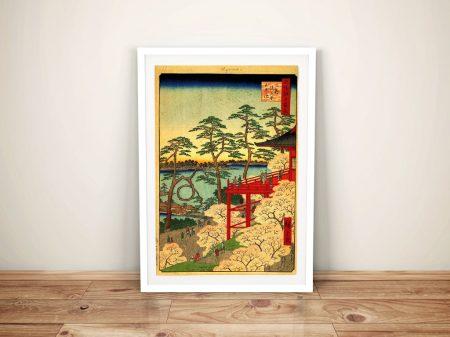 Buy a Hiroshige Canvas Print of Shinobazu Pond