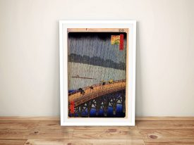 Buy a Japanese Wall Art Print of Sudden Shower