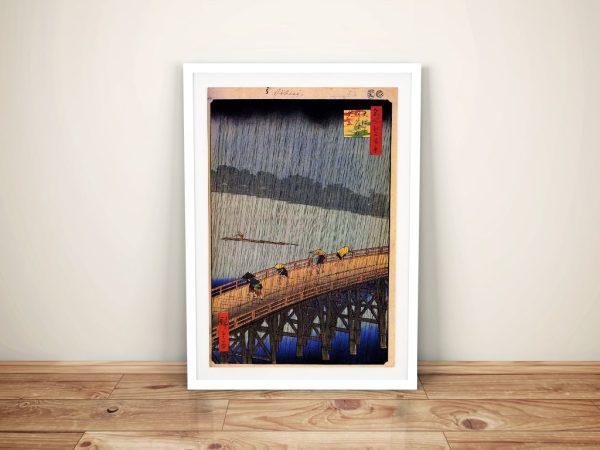 Buy a Japanese Wall Art Print of Sudden Shower
