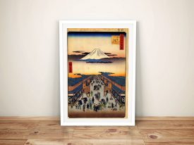 Buy Suraga Cho Canvas Art by Utagawa Hiroshige