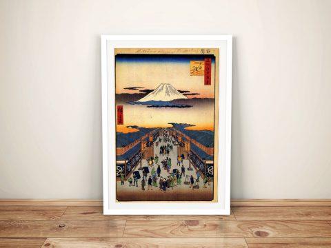 Buy Suraga Cho Canvas Art by Utagawa Hiroshige