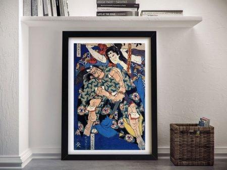 Kusunuki Tamonmaru Hokusai Canvas Artwork