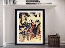 Buy Traveling Couple a Hokusai Japanese Print