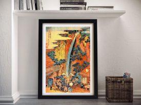 Buy Waterfalls in all Provinces II Hokusai Wall Art